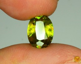 GiL Cert Sphene 1.92 ct Great Color Dispersion From Himalayan Range