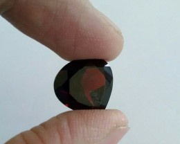 14mm garnet pear shape natural gemstone - excellent clarity