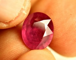 6.88 Carat Fiery Pinkish Red Ruby - Superb