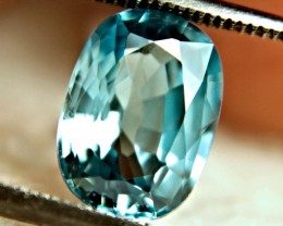 1$NR - 3.98 Carat VVS Blue Southeast Asian Zircon - Gorgeous