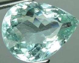 5.35 cts - Sparkling Luster - Pear Gem - Natural Fine Aquamarine NR!!!