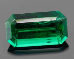 0.57 CT COLUMBIAN EMERALD - MASTER CUT!  GREAT CLARITY!