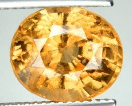 6.38 Cts Natural Imperial Orange Hessonite Garnet Oval Cut Ceylon Gem
