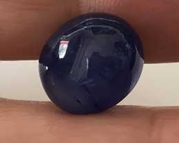 12.50CT GLOWING INKY BLUE SAPPHIRE CABOCHON NO RESERVE