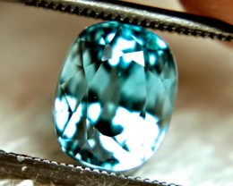 CERTIFIED - 5.28 Carat VVS Blue Southeast Asian Zircon