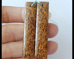 48Ct Natural Calligraphy Earring Beads