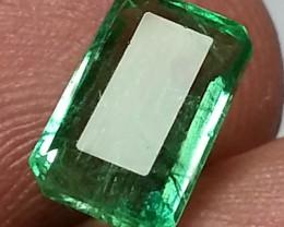 "1.79 ct  "" Museum Grade "" Octagon Cut Untreated Zambian Emerald L"