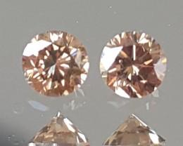 3.20mm, Chocolate Diamond Pair, VVS2, Untreated