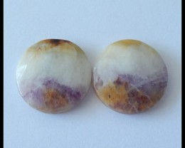 22.5Ct Natural Purple Lace Agate Gemstone Cabochon(C0100)