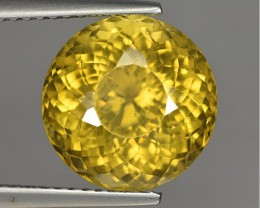 7.83 Cts Natural African Yellow Apatite Round Shape