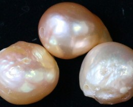 33.70 cts   3 natural  Apricot Pearls  PPP 801