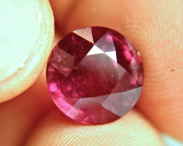8.42 Carat Fiery Round Red Ruby - Superb