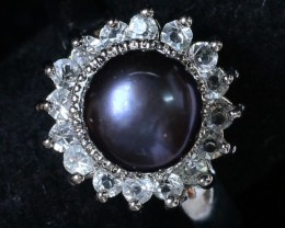 8 mm Pearl Ring size 9.5 PPP 830