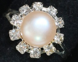 8 mm Pearl Ring size 7 PPP 833