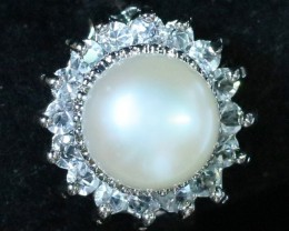 8 mm Pearl Ring size 7 PPP 850