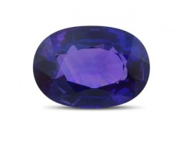 1.71 ct Oval Natural Purple Unheated Sapphire