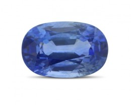 5.36 ct Oval Natural Cornflower Blue Sapphire (BE)