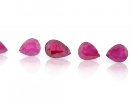 Parcel/Lot 13.5 cts 35 stones Ruby  East Africa  Pears