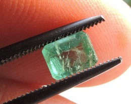 0.90ct EMERALD OCTAGON FACETED GEMSTONE FROM ZAMBIA