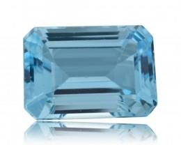 19 ct Sky Blue Topaz 18 x 13 mm Emerald Cut Gem from Brazil