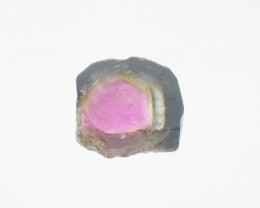 9.7 ct Natural Watermelon Tourmaline Slice Untreated Gemstone from Brazil