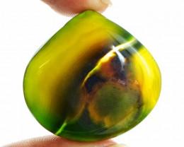 Genuine 57.25 Cts Green Onyx Pear Shape Cab