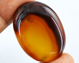 Genuine 64.35 Cts Oval Shape Brown Onyx Cab
