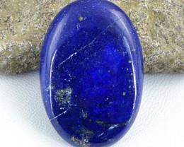 Genuine 102.85 Cts Oval Shape Blue Lapis Lazuli Cab
