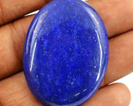 Genuine 67.95 Cts Oval Shape Blue Lapis Lazuli Cab