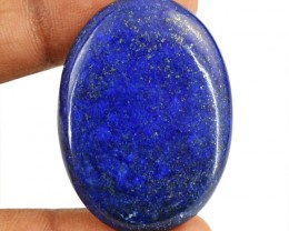 Genuine 45.30 Cts Blue Lapis Lazuli Oval Shape Cab
