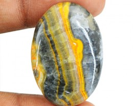 Genuine 31.50 Cts Oval Shape Bumble Bee Jasper Cab