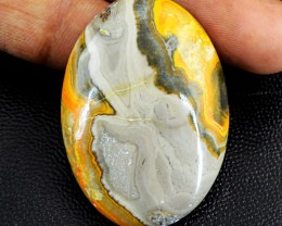 Genuine 61.00 Cts Oval Shape Bumble Bee Jasper Cab