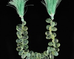 Genuine 274.80 Cts Green Fluorite 8 Inches Beads Strand