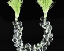 Genuine 251.90 Cts Green Fluorite 8 Inches Beads Strand