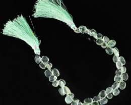 Genuine 95.90 Cts Green Fluorite 8 Inches Beads Strand