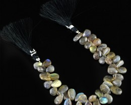 Genuine 170.50 Cts Labradorite 7.5 Inches Beads Strand