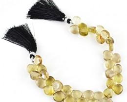 Genuine 213.65 Cts Smoky Quartz 8 Inches Beads Strand
