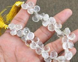 Genuine 167.40 Cts Rutile Quartz 8 Inches Beads Strand