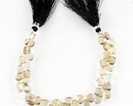 Genuine 110.65 Cts Smoky Quartz 8 Inches Beads Strand
