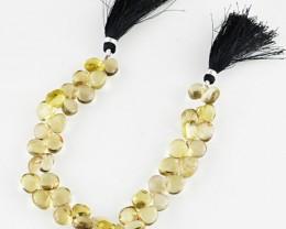 Genuine 164.85 Cts Smoky Quartz 8.5 Inches Beads Strand