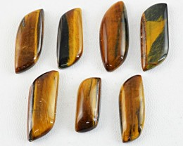 Genuine 166.20 Cts Untreated Golden Tiger Eye Cab Lot