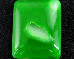 Genuine 113.60 Cts Green Druzy Cab