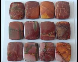 12 PCS Natural Multi Color Picasso Jasper Cabochons Parcel,107Ct