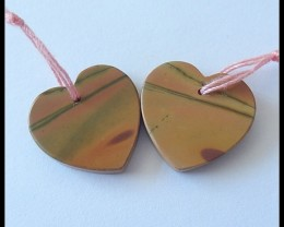 18.5Ct Natural Multi Color Picasso Jasper Earring Beads