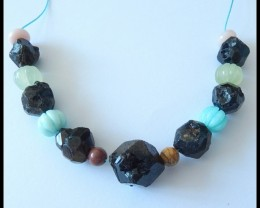 Natural Amazonite,Garnet,Prehnite,Pink Opal,Picasso Jasper Beads Strands