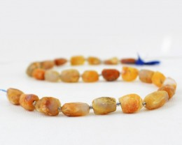 Genuine 150.05 Cts Agate 13 Inches Faceted Beads Strand