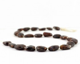 Genuine 219.00 Cts Brown Jasper 13 Inches Faceted Beads Strand