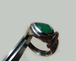1.3 ct. Colombian Emerald Silver Ring (Certified)