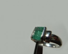 1.8 ct. Colombian Emerald Silver Ring