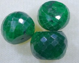 EMERALD BEAD UNTREATED DRILLED  38.6 CTS NP-2002